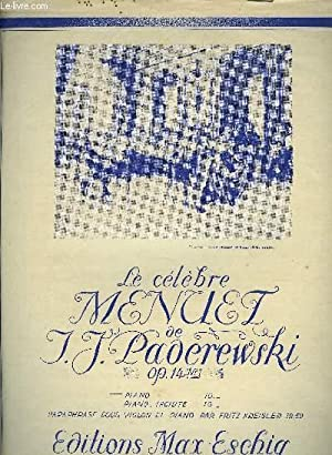 MENUET POUR PIANO SEUL: J.J PADEREWSKI