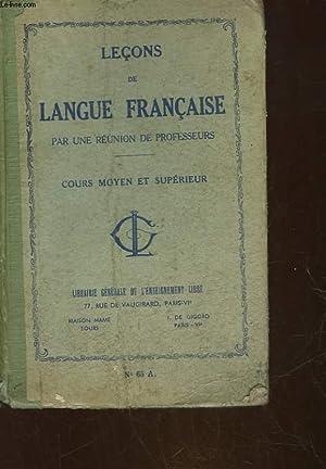 LECONS DE LANGUE FRANCAISE PAR UNE REUNION: COLLECTIF