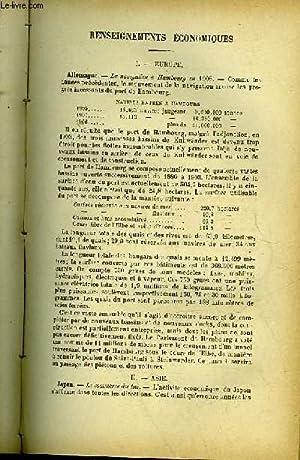 EXTRAIT DE QUESTIONS DIPLOMATIQUES ET COLONIALES - TOME 24 - N°253 - RENSEIGNEMENTS ECONOMIQUES...
