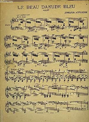 LE BEAU DANUBE BLEU valse pour piano: JOHANN STRAUSS