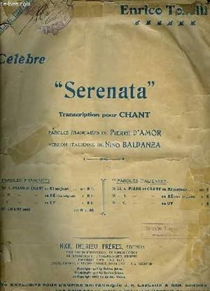 SERENATA chant et piano pour baryton: ENRICO TOSELLI