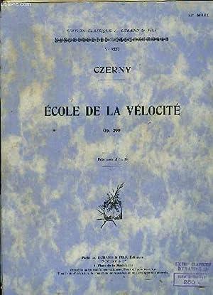 ECOLE DE LA VELOCITE OP.299: CZERNY