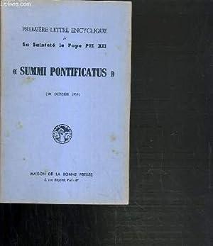 """PREMIERE LETTRE ENCYCLIQUE DE SA SAINTETE LE PAPE PIE XII """" SUMMI PONTIFICATUS"""" (20 ..."""