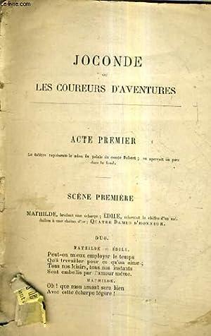 JOCONDE OU LES COUREURS D'AVENTURES.: COLLECTIF