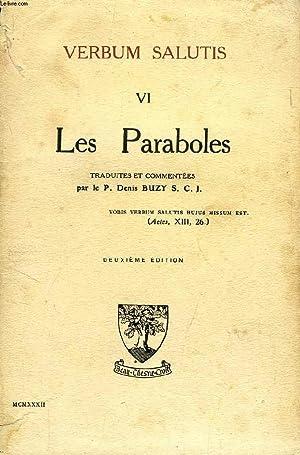 VERBUM SALUTIS, VI, LES PARABOLES: COLLECTIF