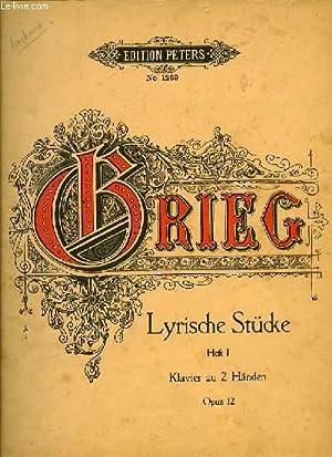 LYRISCHE STUCKE heft I klavier zu 2 Händen OPUS 12: BRIEG
