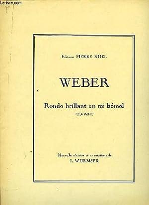 RONDO BRILLANT EN MI bémol pour piano: WEBER