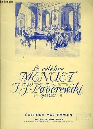 MENUET pour piano seul: I. J. PADEREWSKI