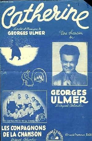CATHERINE partition pour le chant: G.ULMER
