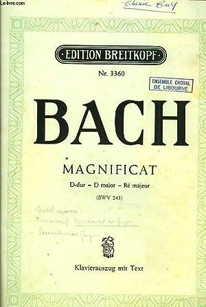 MAGNIFICAT D-dur - D major- Ré majeur: BACH