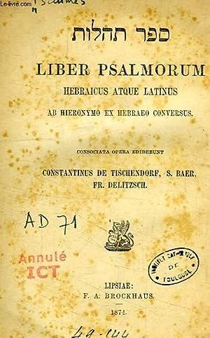 LIBER PSALMORUM HEBRAICUS ATQUE LATINUS: COLLECTIF