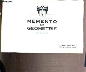 MEMENTO DE GEOMETRIE (B.E.P.C): USELDINGER PIERRE