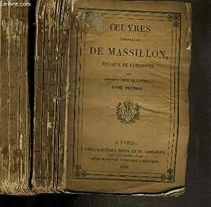 OEUVRES COMPLETES DE MASSILLON - EVEQUE DE CLERMONT - SERMONS POUR LE CAREME - 2 TOMES - 1 + 4: ...
