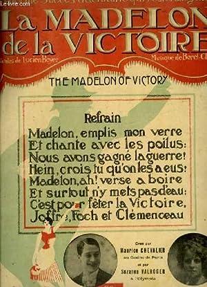 LA MADELON DE LA VICTOIRE - POUR PIANO ET CHANT AVEC PAROLES EN FRANCAIS/ANGLAIS.: BOREL - CLERC CH...