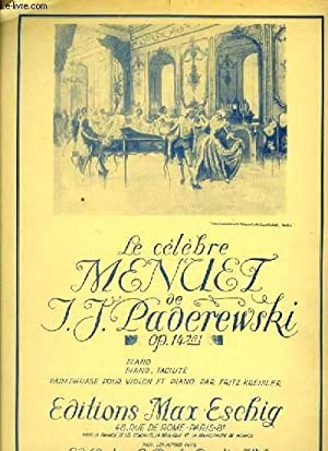 LE CELEBRE MENUET OP.14 N°1: PADEREWSKI I.J.