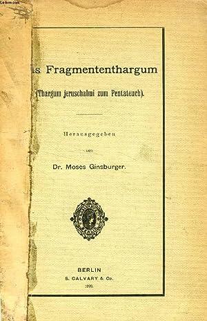 DAS FRAGMENTENTHARGUM (THARGUM JERUSCHALMI ZUM PENTATEUCH): COLLECTIF