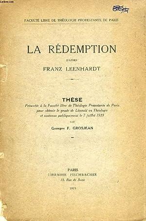 LA REDEMPTION D'APRES FRANZ LEENHARDT (THESE): GROSJEAN GEORGES F.