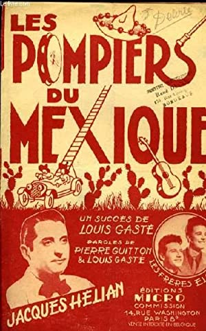 LES POMPIERS DU MEXIQUE samba partition pour le chant: LOUIS GASTE