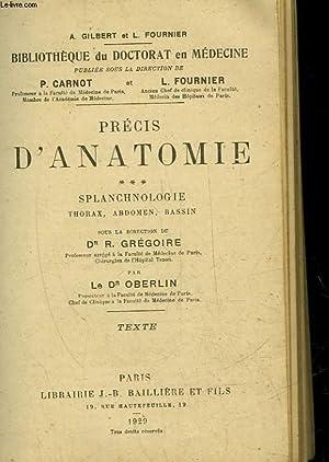 PRECIS D'ANATOMIE - SPLANCHNOLOGIE: CARNOT P. -