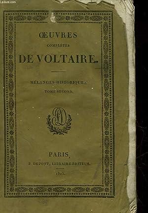 OEUVRES COMPLETES DE VOLTAIRE - TOME 27 - MELANGES HISTORIQUES TOME 2: VOTLAIRE