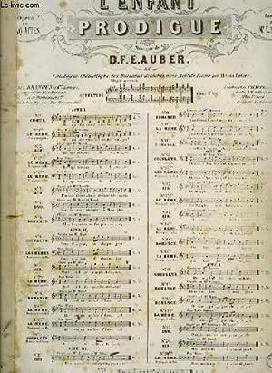 N°2 AIR extrait de l'ENFANT PRODIGUE POUR PIANO ET CHANT: D.F.E AUBER