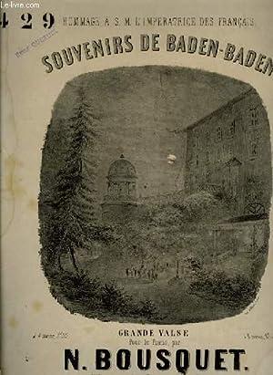 SOUVENIRS DE BADEN-BADEN grande valse: N. BOUSQUET