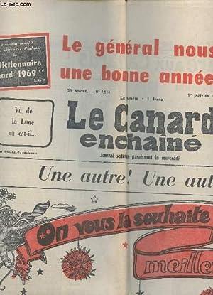 """LE CANARD ENCHAINE - N°2514 - 1eR JANVIER 1969 / """"ON VOUS LA SOUHAITE MEILLEURE QUE ..."""