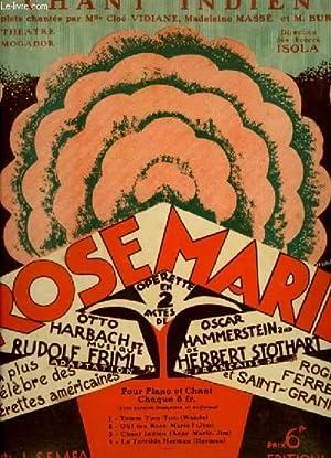 ROSE MARIE N°3 : CHANT INDIEN - PIANO ET CHANT AVEC PAROLES FRANCAISES ET ANGLAIS.: FRIML ...