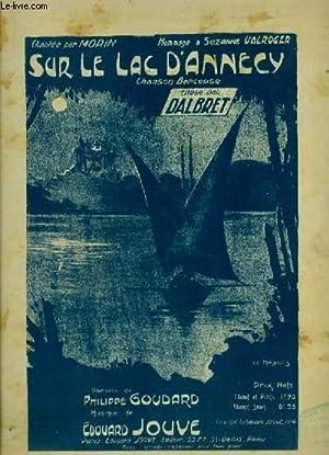 SUR LE LAC D'ANNECY - CHANSON BERCEUSE POUR PIANO ET CHANT AVEC PAROLES.: JOUVE EDOUARD