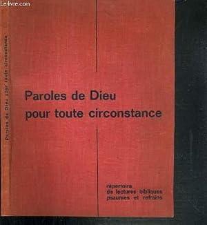 PAROLES DE DIEU POUR TOUTE CIRCONSTANCE: COLLECTIF
