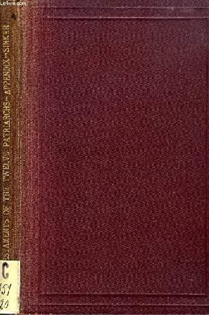 TESTAMENTA XII PATRIARCHARUM, APPENDIX, A COLLATION OF THE ROMAN AND PATMOS Mss. AND ...