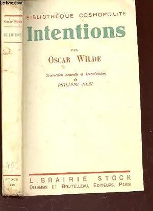 INTENTIONS / BIBILOTHEQUE COSMOPOLITE.: WILDE OSCAR