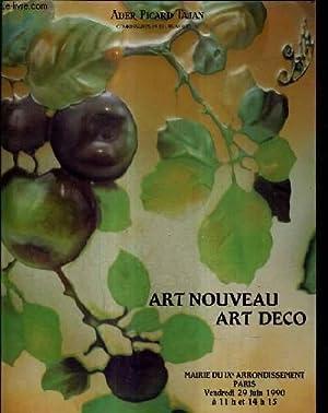 CATALOGUE DE VENTES AUX ENCHERES - ART NOUVEAU ART DECO VENTE A PARIS MAIRIE DU IXE ARRONDISSEMENT ...