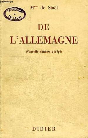 DE L'ALLEMAGNE: STAEL MADAME DE