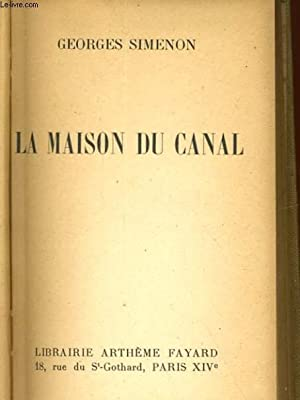 LA MAISON DU CANAL: SIMENON