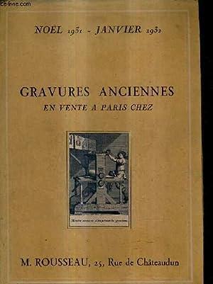 CATALOGUE - GRAVURES ANCIENNES DU XVII AU XIX SIECLE EN NOIR ET EN COULEURS DES ECOLES FRANCAISE ET...