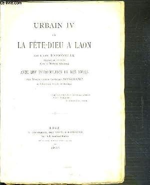 URBAIN IV ET LA FETE-DIEU A LAON: DARSONVILLE L'ABBE