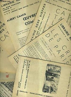 LOT DE 9 CATALOGUES DE LA LIBRAIRIE RENE KIEFFER - N°137 + N°138 + N° 139 + N°140 +...