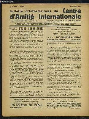 BULLETIN D'INFORMATIONS DU CENTRE D'AMITIE INTERNATIONALE -: COLLECTIF