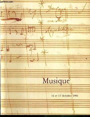 CATALOGUE DE VENTES AUX ENCHERES - MUSIQUE - MANUSCRIT MUSICAUX - LETTRES AUTOGRAPHES - EPREUVES ...