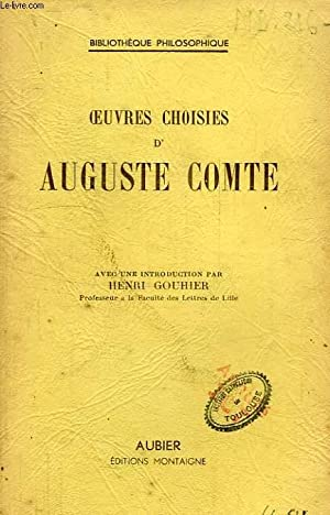OEUVRES CHOISIES: COMTE AUGUSTE