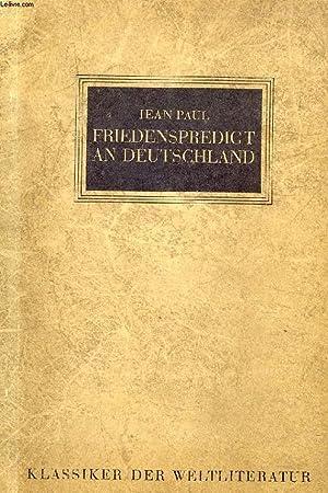 FRIEDENSPREDIGT AN DEUTSCHLAND: PAUL JEAN