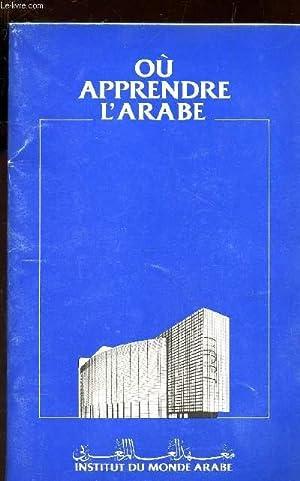 OU APPRENDRE L'ARABE?.: COLLECTIF