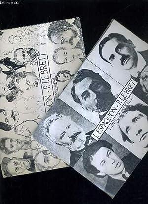 LOT DE 2 CATALOGUES DE LA LIBRAIRIE J.ESPAGNON - P. LE BRET LIVRES ANCIENS CHAPTAL - N°25 + N&...