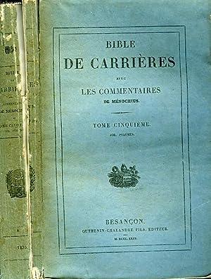 SAINTE BIBLE CONTENANT L'ANCIEN ET LE NOUVEAU: CARRIERES R. P.