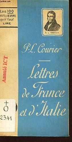 LETTRES DE FRANCE ET D'ITALIE - Lettres: COURIER P.L.