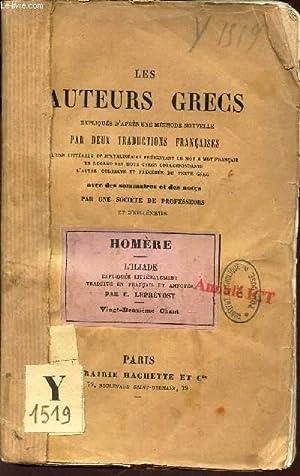 """HOMERE - L'ILIADE / COLLECTION """"LES AUTEURS GRECS Expliqués d""""après une méthode ..."""