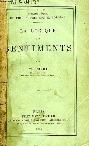LA LOGIQUE DES SENTIMENTS: RIBOT Th.
