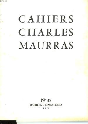 CAHIRS CHARLES MAURRAS N°42: COLECTIF