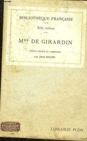 19° SIECLE - MME DE GIRARDIN: BALDE JEAN